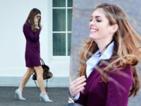Fashion Notes: Hope Hicks Exits White House in Purple Blazer, Suede Stilettos