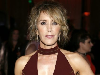 Felicity Huffman is seen at the 2017 Performers Nominee Reception Presented by the Television Academy at the Wallis Annenberg Center for the Performing Arts on Friday, Sept. 15, 2017, in Beverly Hills, Calif. (Photo by Danny Moloshok/Invision for the Television Academy/AP Images)