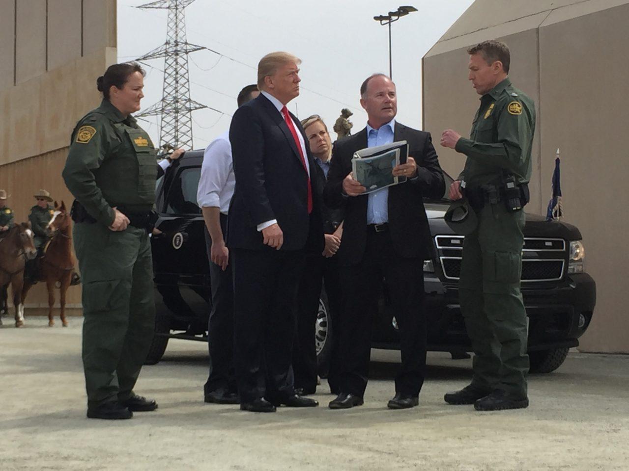 PHOTOS: President Donald Trump Visits Border Wall Prototypes | Breitbart