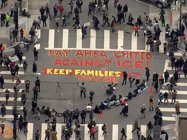 Ice Protest San Francisco CBS