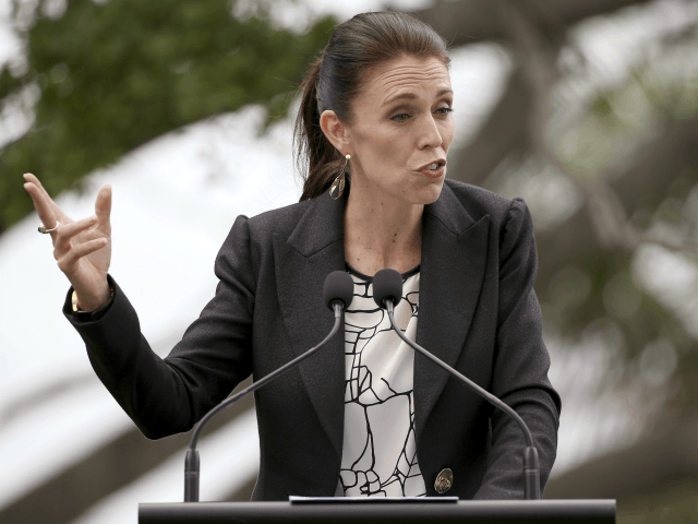 New Zealand's Prime Minister Jacinda Ardern makes a point during a joint press conference with Australian Prime Minister Malcolm Turnbull in Sydney, Friday, March 2, 2018. (AP Photo/Rick Rycroft)