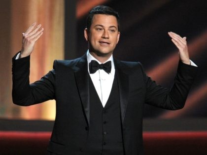 Host Jimmy Kimmel speaks onstage during the 64th Annual Primetime Emmy Awards at Nokia Theatre L.A. Live on September 23, 2012 in Los Angeles, California. (Photo by Kevin Winter/Getty Images)