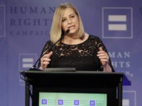Nashville mayor Megan Barry speaks during the 21st Annual HRC Nashville Equality Dinner honoring Kesha at the Renaissance Hotel on Saturday, March 5, 2016, in Nashville, Tenn. (Photo by Wade Payne/Invision/AP)