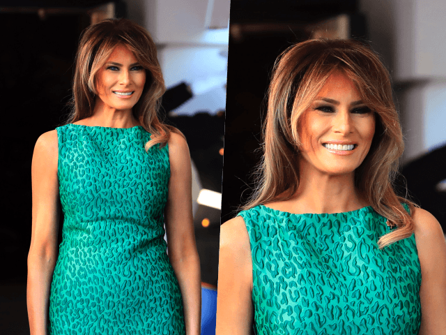 Fashion Notes: Melania Trump Celebrates Ireland in Emerald Green, Leopard-Print Dress