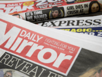 LONDON, ENGLAND - FEBRUARY 09: Issues of the Daily Mirror, Daily Star and Daily Express are seen on February 9, 2018 in London, England. The Trinity Mirror media group has agreed to pay £126.7m for Northern & Shell, the media company which publishes the Express and Star newspapers, as well …