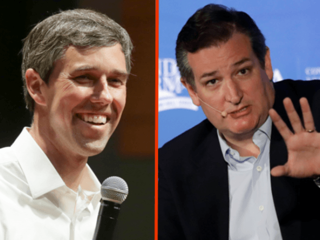 Beto O'Rourke and Ted Cruz