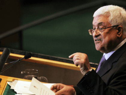 Palestinian Authority President Mahmoud Abbas speaks during the 66th General Assembly Session at the United Nations on September 23, 2011 in New York City. The annual event, which is being dominated this year by the Palestinian's bid for full membership, gathers more than 100 heads of state and government for …