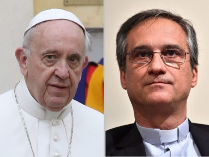 Pope Francis and Msgr Dario Viganò