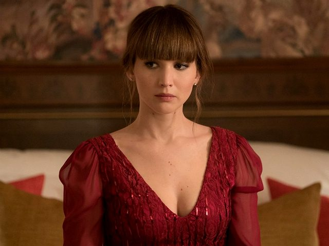 Joel Edgerton and Jennifer Lawrence in Red Sparrow (2018, Twentieth Century Fox)