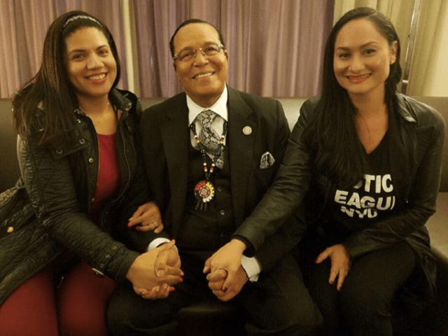 Louis Farrakhan and Carmen Perez (msladyjustice1 / Instagram)