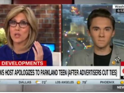 """CNN'sAlisyn Camerota interviewed David Hogg Friday morning and asked, """"What kind of dumbass colleges don't want you?"""""""