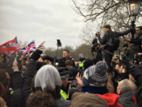 Thousands Gather in London's Speakers' Corner to Hear Tommy Robinson Deliver Banned Right-Wing Activist's Speech