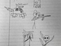 Student Stick Figure w/Gun