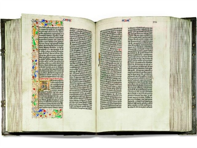 The Gutenberg Bible,