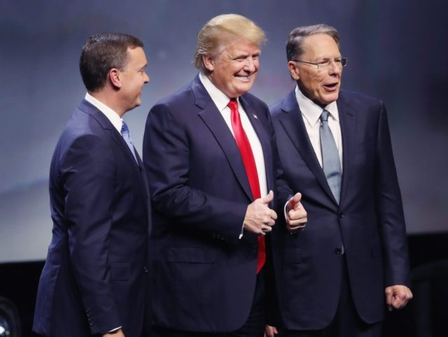 Trump and NRA (Scott Olson / Getty)