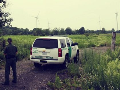 U.S. Border Patrol observing the international border in Swanton Sector