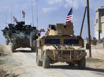 Tanks with U.S. flags--Middle East