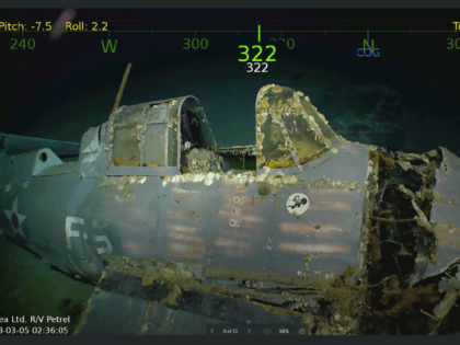 A Fighter Plane found on the wreck of the USS Lexington in the Coral Sea