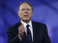 Wayne LaPierre, Executive Vice President of the National Rifle Association, addresses the Conservative Political Action Conference at the Gaylord National Resort and Convention Center February 24, 2017 in National Harbor, Maryland. Hosted by the American Conservative Union, CPAC is an annual gathering of right wing politicians, commentators and their supporters. …