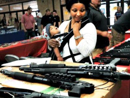 Woman, Gun Show