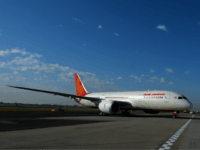 Air India's Dreamliner taxis on the tarmac upon arriving in Sydney on August 30, 2013. Australia's first ever Dreamliner passenger flight touched down in Sydney as the airport welcomed direct services from New Delhi to Sydney with Air India. AFP PHOTO / Saeed Khan (Photo credit should read SAEED KHAN/AFP/Getty …