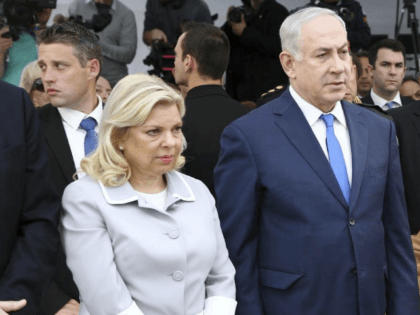 Israeli Prime Minister Benjamin Netanyahu, center, and his wife Sara, left, stand beside Vice-President Gabriela Michetti on the site of the former Israeli embassy in Buenos Aires, Argentina, Monday, Sept. 11, 2017. The Bombing of the Israeli embassy on 1992 killed more than a dozen and left hundreds injured. Netanyahu …