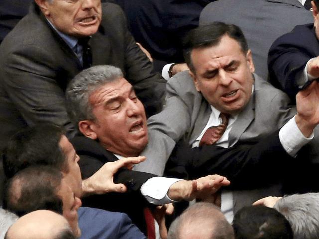 A Debate Becomes a Brawl as Turkeys Parliament Votes to