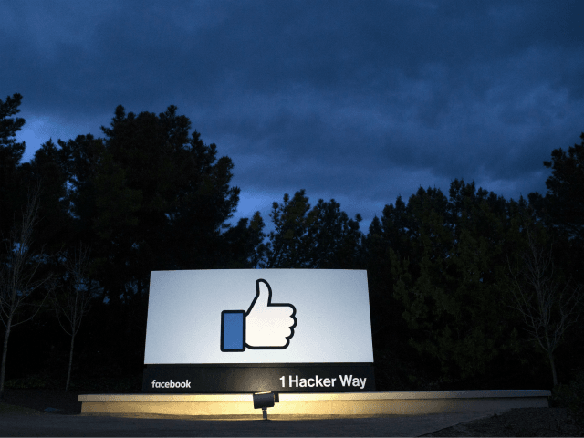 OPSHOT - A lit sign is seen at the entrance to Facebook's corporate headquarters location in Menlo Park, California on March 21, 2018. Facebook chief Mark Zuckerberg vowed on March 21 to 'step up' to fix problems at the social media giant, as it fights a snowballing scandal over the …