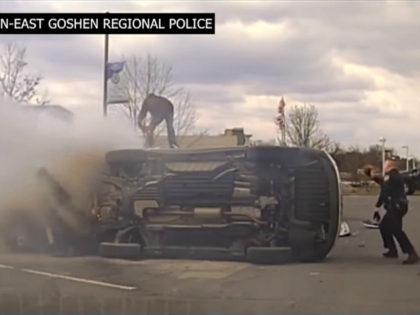 Good Samaritans in Pennsylvania Flip Burning SUV Off Crash Victim, Saving His Life