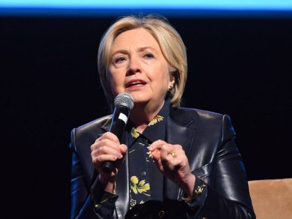 LOS ANGELES, CA - DECEMBER 15: Senator Hillary Clinton attends the LA Promise Fund's Girls Build Leadership Summit at Los Angeles Convention Center on December 15, 2017 in Los Angeles, California. (Photo by Araya Diaz/WireImage)