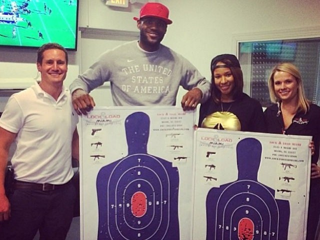 WATCH: 'March for Our Lives' Supporter LeBron James Shoots Machine Guns
