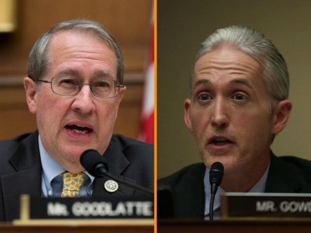 House Judiciary Committee Chairman Bob Goodlatte (R-VA) and House Oversight and Government Reform Committee Chairman Trey Gowdy (R-SC) are calling for a second special counsel to investigate potential bias, conflicts of interest, and decisions made by the Justice Department and FBI in 2016 and 2017.