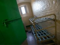 A cell is pictured inside Reading prison during an exhibition photocall at the prison in Reading, west of London on September 1, 2016. Having closed it's doors as a conventional prison in 2013, Reading Prison opens to the public for a major new project in which leading artists, performers and …
