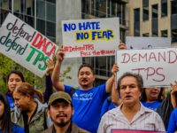 26 FEDERAL PAZA, NEW YORK, UNITED STATES - 2017/11/06: On the day of the likely decision of the State Department recommendation to end TPS for Central America and Haiti, November 6, 2017; immigrants, allies and elected officials gathered to rally in New York City to demand that the Department of …
