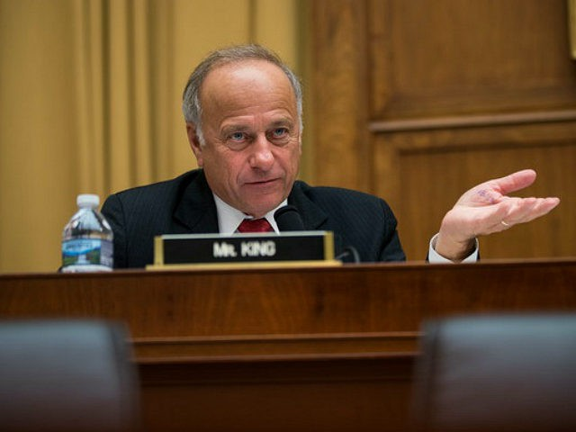 WASHINGTON, DC - OCTOBER 26: Rep. Steve King (R-IA) questions witnesses during a House Judiciary Committee hearing concerning the oversight of the U.S. refugee admissions program, on Capitol Hill, October 26, 2017 in Washington, DC. The Trump administration is expected to set the fiscal year 2018 refugee ceiling at 45,000, …