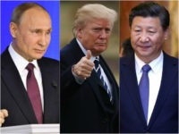 Vladimir Putin, Donald Trump, and Xi Jinping