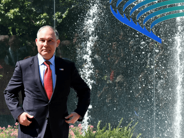 Head of the Environmental Protection Agency (EPA) Scott Pruitt prepares to pose for a group photo during the G7 Environment summit on June 11, 2017 in Bologna. / AFP PHOTO / Alberto PIZZOLI (Photo credit should read ALBERTO PIZZOLI/AFP/Getty Images)