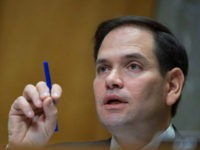 Senator Marco Rubio (R-FL) spekas during a foreign relations hearing in Washington, DC on January 9, 2018, on the attacks on US Diplomats in Cuba. The United States is to review how the State Department has responded to alleged attacks on the health of 24 diplomats and family members in Havana, officials said Tuesday. The State Department had come under renewed pressure to form an 'accountability review board' as the mystery surrounding the brain trauma suffered by the envoys has only deepened. Initially officials suggested the Americans had been targeted by some sort of acoustic weapon, although news reports now say the FBI has been unable to confirm this theory. / AFP PHOTO / Andrew CABALLERO-REYNOLDS (Photo credit should read ANDREW CABALLERO-REYNOLDS/AFP/Getty Images)