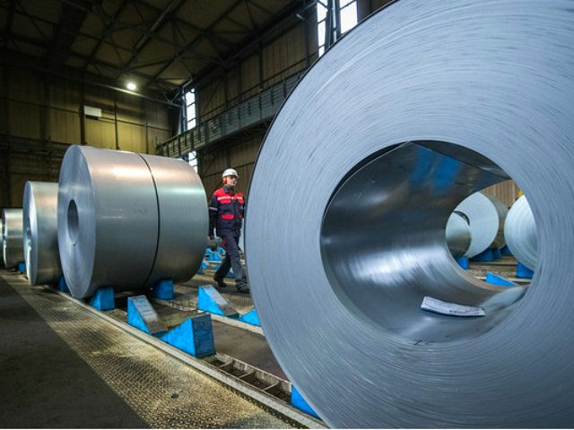 DUISBURG, GERMANY - JANUARY 17: A view of the storage area of galvanized coiled steel following manufacture at ThyssenKrupp steelworks on January 17, 2018 in Duisburg, Germany. ThyssenKrupp CEO Heinrich Hiesinger is seeking to merge the company's steel making unit with Tata Steel of India. The German economy grew 2.2 …