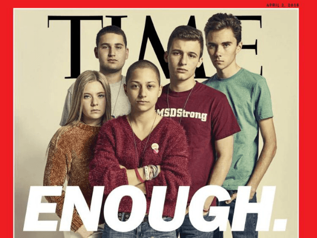 The cover for Time magazine's Parkland issue presents pro-gun control students while leaving pro-Second Amendment students out of sight.