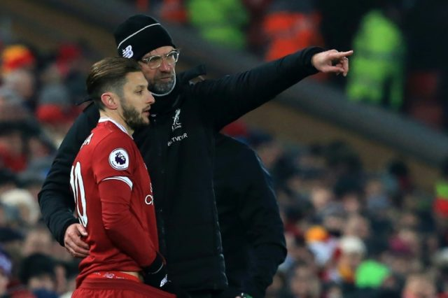 Liverpool midfielder Adam Lallana's season has been blighted by injury