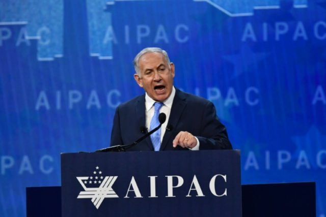 Prime Minister Benjamin Netanyahu, who faces a corruption probe at home, delivered a hawkish speech to the influential American Israel Public Affairs Committee (AIPAC) one day after talks with US President Donald Trump