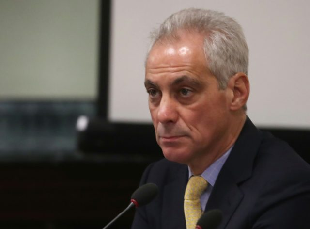 "Chicago Mayor Rahm Emanuel says his city is engaged in a ""legal fight to end irresponsible practices"" and hold companies that oversupply addictive painkillers ""accountable for their deceptive actions"""