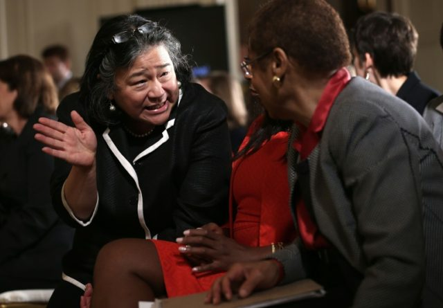 Tina Tchen, shown at the White House in 2013, was a chief of staff to then-First Lady Michelle Obama