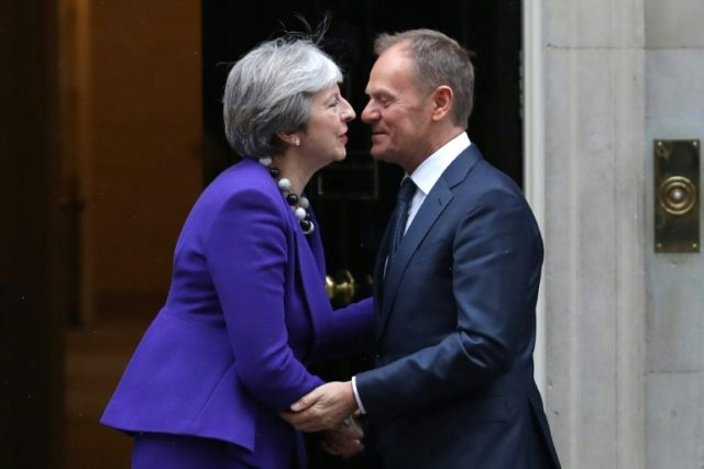 Close ties?: European Council President Donald Tusk will on Wednesday unveil draft guidelines for the bloc's future relations with London, just days after British PM Theresa May spoke of a wide-ranging free-trade deal