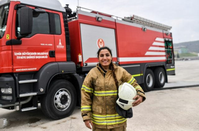 Devrim Ozdemir, one of the first women firefighters in Turkey, has inspired 50 other women to join the Izmir brigade.