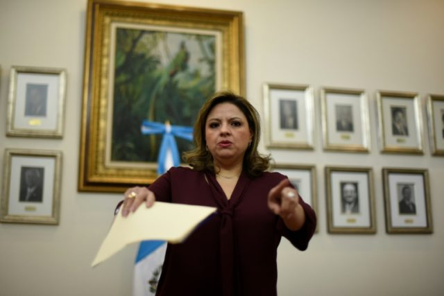 "Moving the embassy from Tel Aviv to Jerusalem is a ""in accordance"" with Guatemala's foreign policy toward Israel, Foreign Minister Sandra Jovel said"