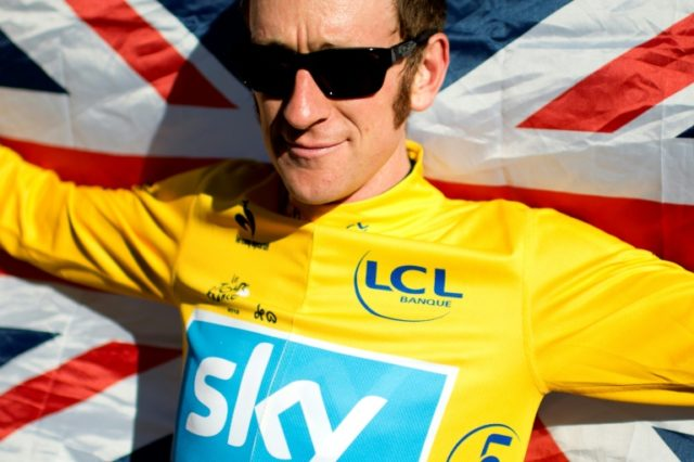 British rider Bradley Wiggins celebrates his victory in the 2012 Tour de France