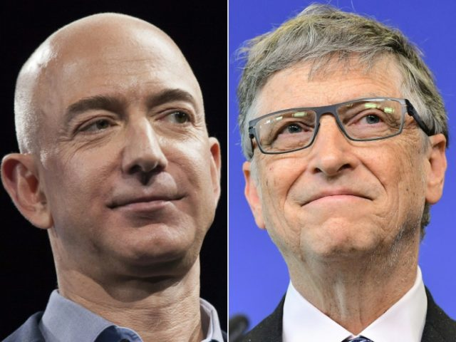 Bezos sailed past Gates to top the Forbes billionaires list for the first time
