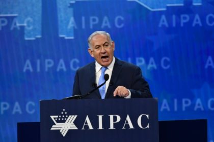 Netanyahu, who faces an intensifying corruption probe at home delivered a hawkish speech to the influential American Israel Public Affairs Committee (AIPAC) a day after talks with President Donald Trump